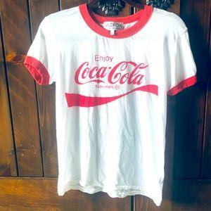 Wildfox Coca Cola Logo Tee 🥰 XS